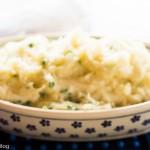 Roasted Garlic Mashed Potatoes with Scallions