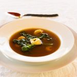 """Brodo"" Grass Fed Beef Broth, Tortellini, Broccoli Rabe"