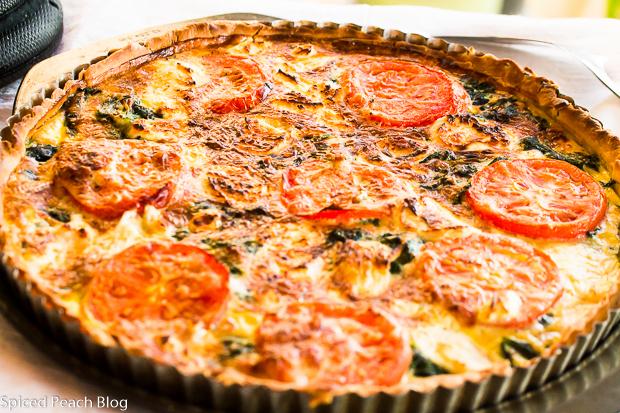 Tomato, Kale, Cheese Tart