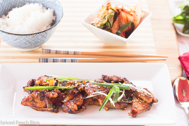 Spicy korean pork jeyuk gui korean cuisine journey at drexel spicy korean pork forumfinder Choice Image