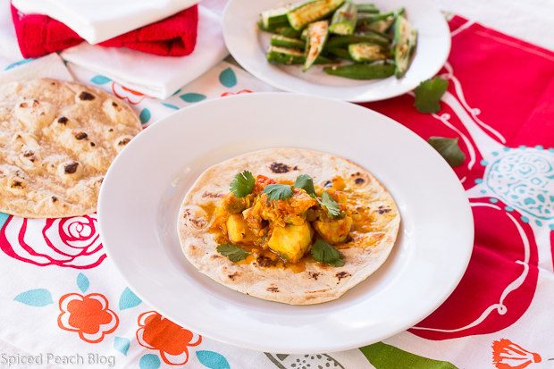 Spiced Tilapia on Roti