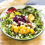 Arugula, Beets, Goat Cheese Salad