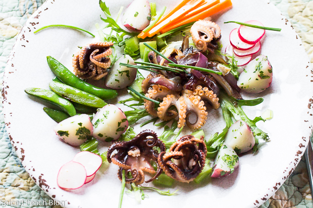Grilled Baby Octopus Salad
