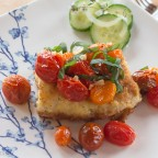 Wild Alaskan Cod, Crispy Coated, Garlic Roasted Medley Tomatoes