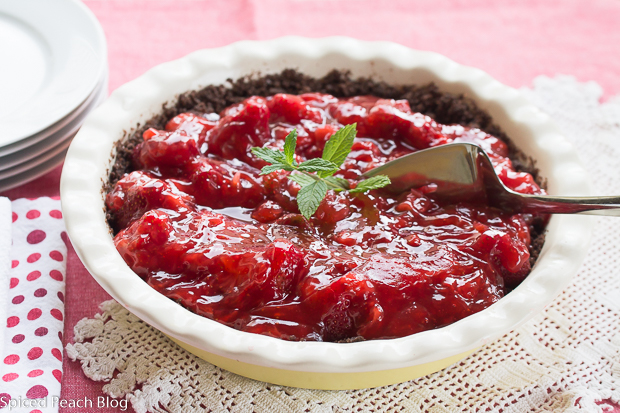 Chocolate Crust Strawberry Pie