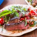 Grilled Lamb, Za'atar Flatbread, Marzano Tomatoes, Herbs, Feta
