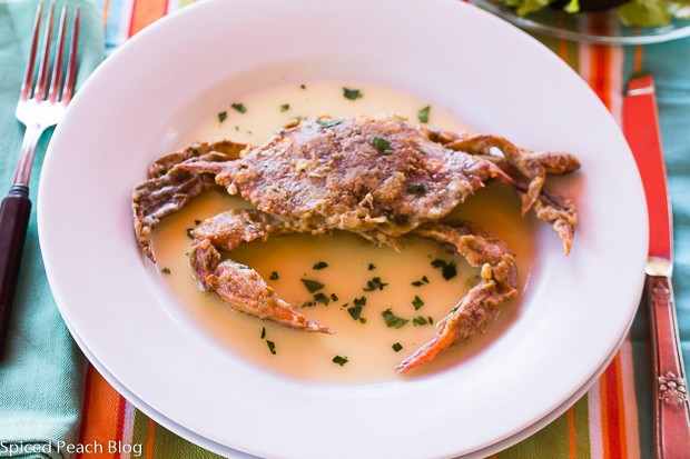Soft Shell Crabs with Lemon Butter Sauce