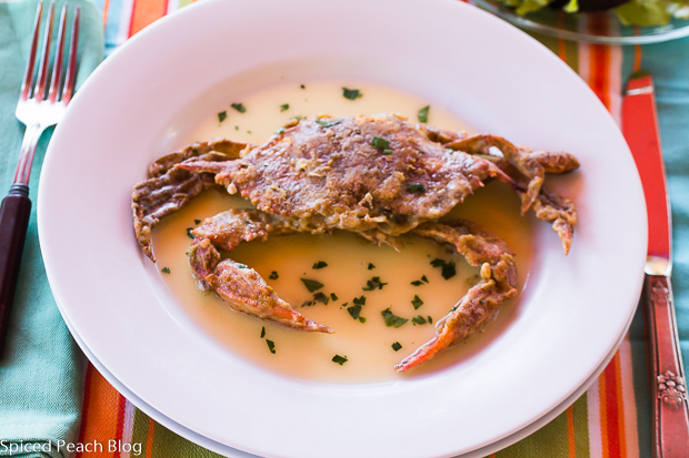 Soft Shell Crabs, Lemon Butter Sauce