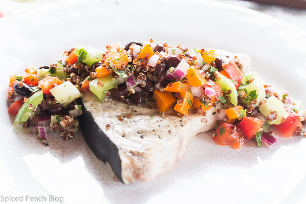 Grilled Swordfish with Quinoa Salsa