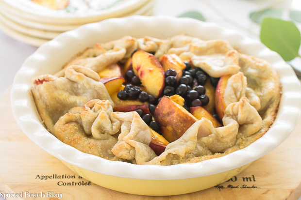 Nectarines and Blueberries Open- Face Tart