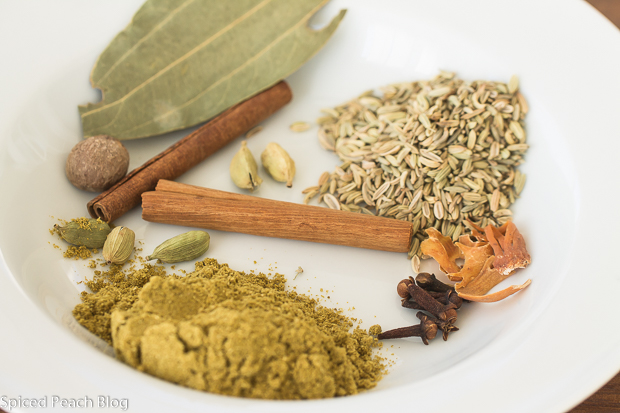 spices in Biryani