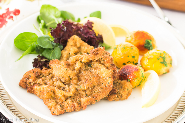 Wiener Schnitzel with Roasted Potatoes and Salad