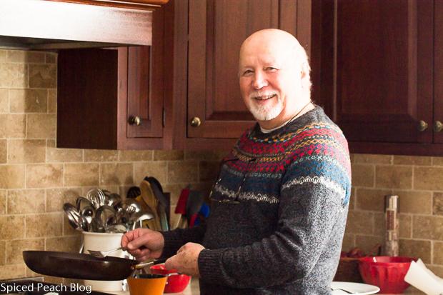 Dietmar prepares Wiener Schnitzel
