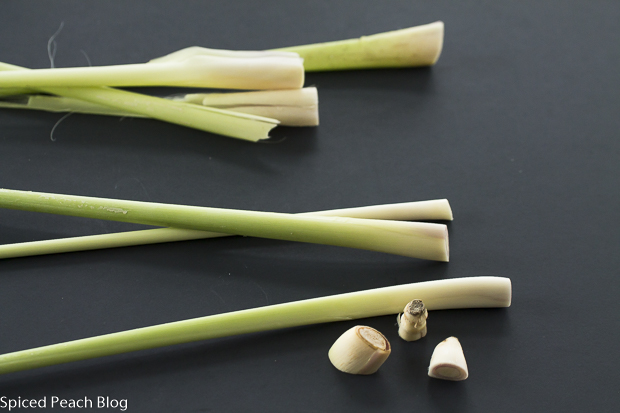 3 stalks lemongrass stems removed