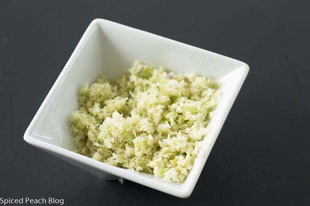 dish of finely chopped lemongrass