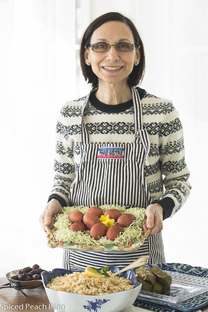 Agnes Fuller with Armenian Style Dyed Easter Eggs