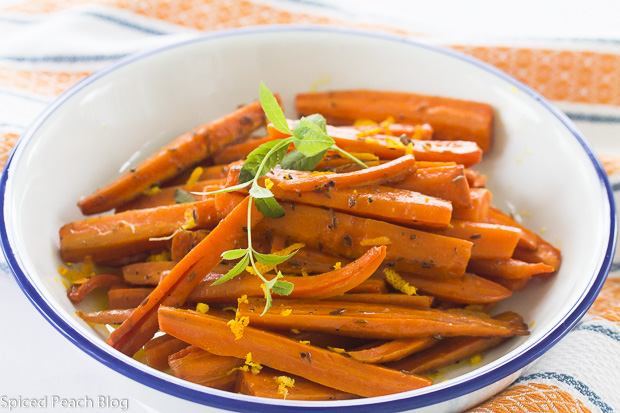 Roast Carrots with butter, cumin, orange