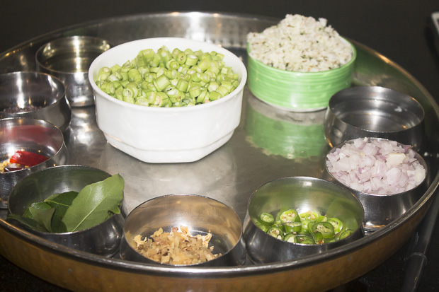 India Ingredient Tray for Broad Beans