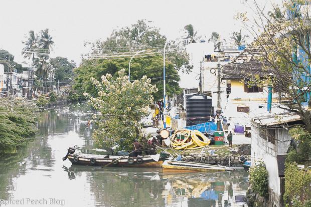 canal street in Kochi