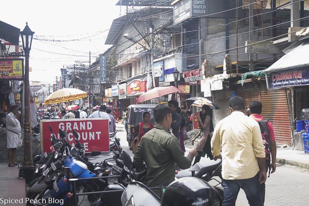 shopping street in Kochi, Kerala India