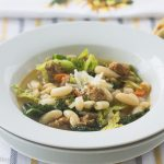 Spicy Sausage and White Bean Soup, Savoy Cabbage