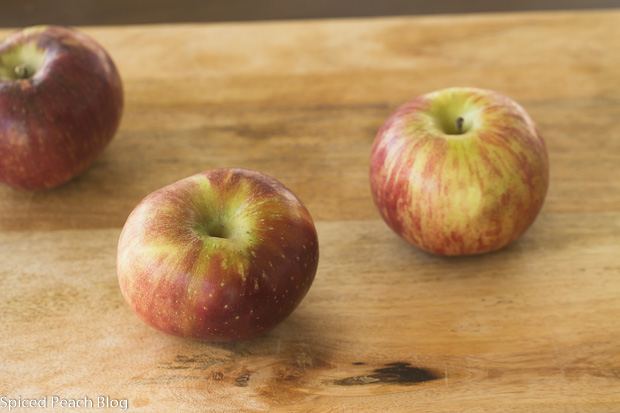Three Cortland Apples