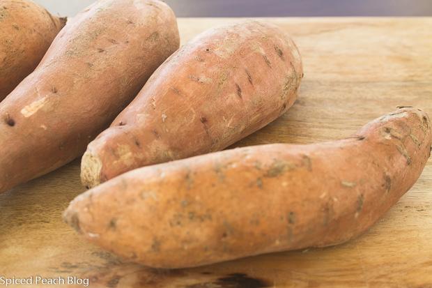 4 large sized sweet potatoes