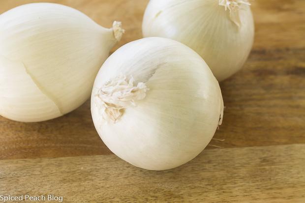 white Spanish onions