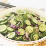 Persian Cucumber, Red Onion, Dill Salad