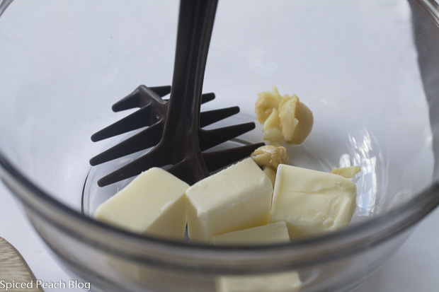 butter and roasted garlic