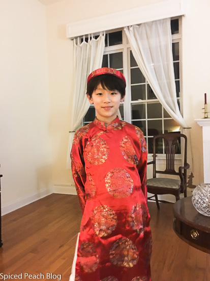 Jason in Tet attire