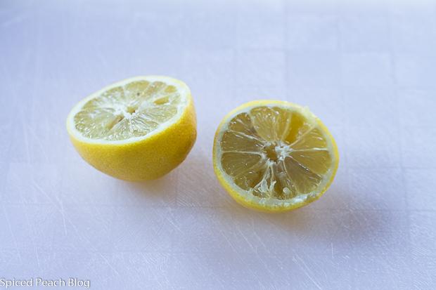 halved lemon