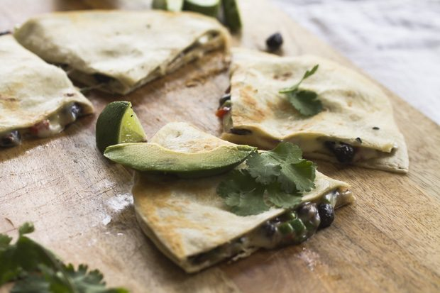 Black Bean and Pepper Jack Quesadilla