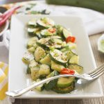 Sweet and Sour Sesame Zucchini