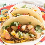Ground Turkey Tacos with White Peach Salsa