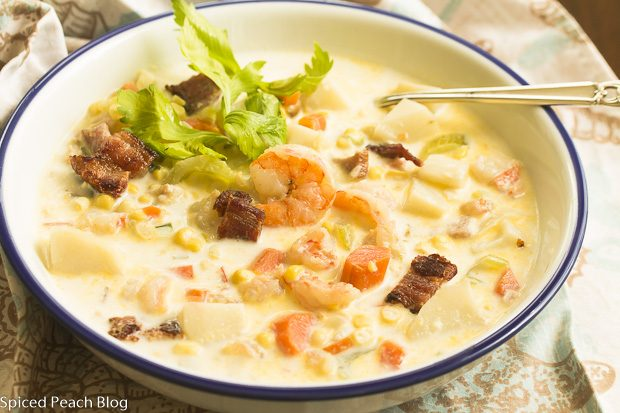 Jersey Corn and Shrimp Chowder