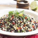 Summer Sweet Corn, Black Beans and Red Pepper Salad