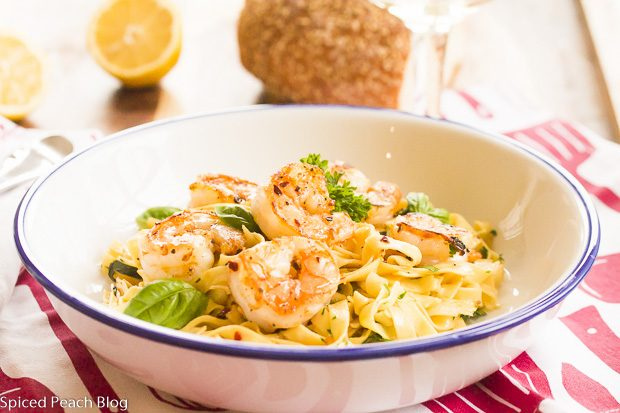 Emily's Limoncello Shrimp and Fettuccine