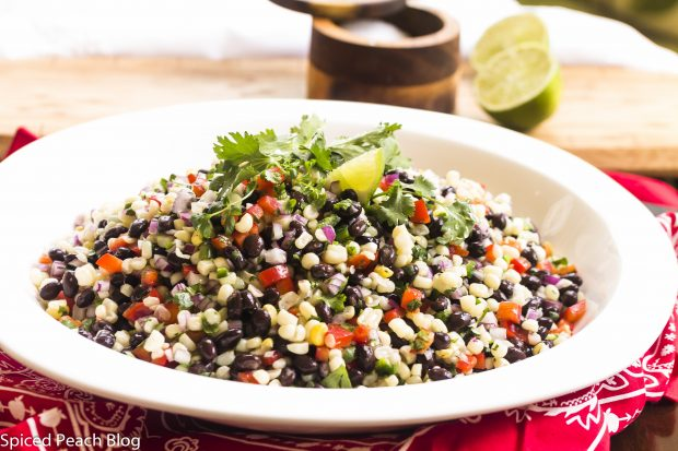 Summer Sweet Corn, Black Bean, Jalapeno and Red Pepper Salad