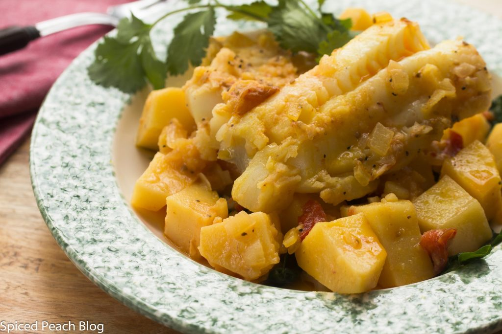 saffron potatoes and cod