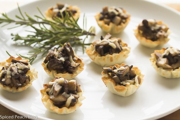 Creamy Wild Mushrooms in Phyllo Cups