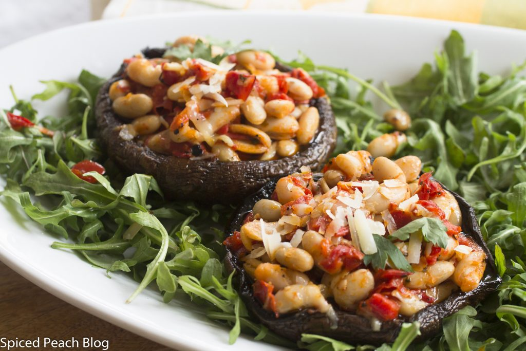 Portobello Mushrooms with Warm White Bean Salad