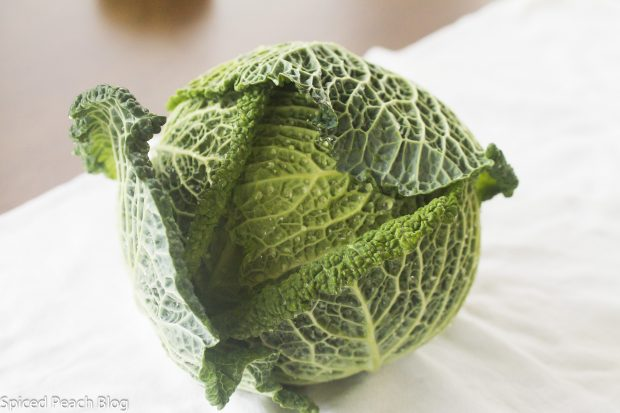head of green cabbage