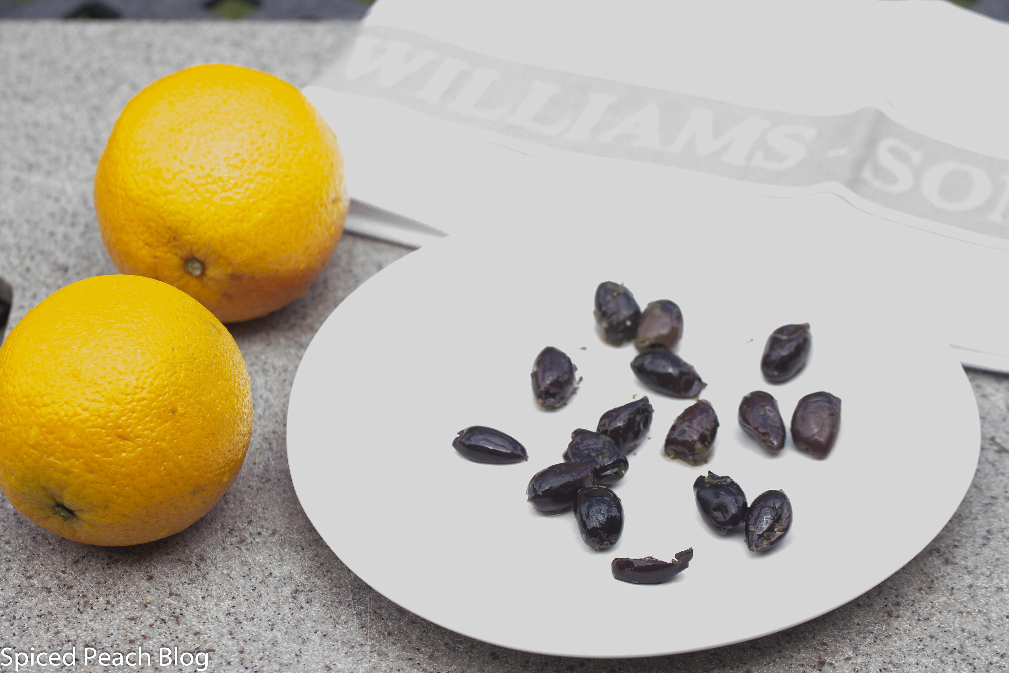 oranges and kalamata olives