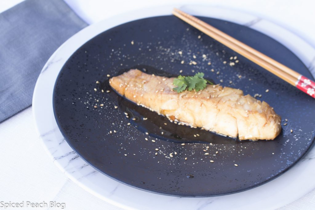 Corvina Simmered in mirin, Ginger, and Soy