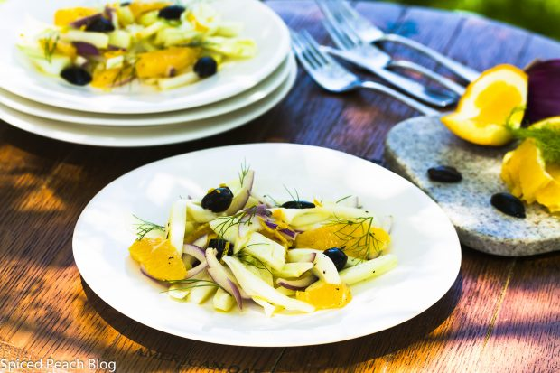 Fennel, Orange, Kalamata Salad