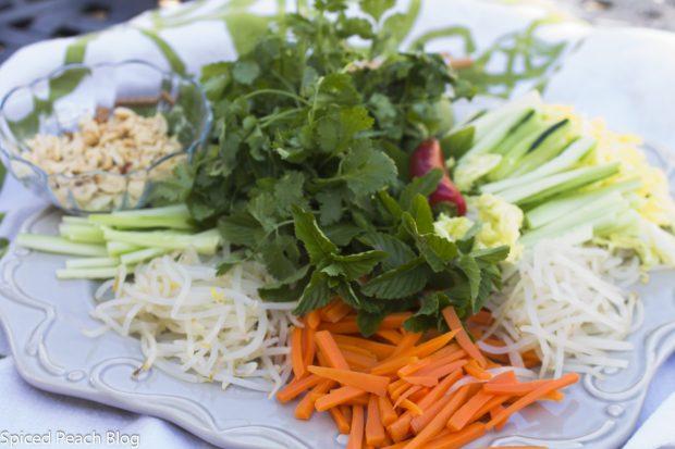 Vietnames Noodle Salad Ingredients