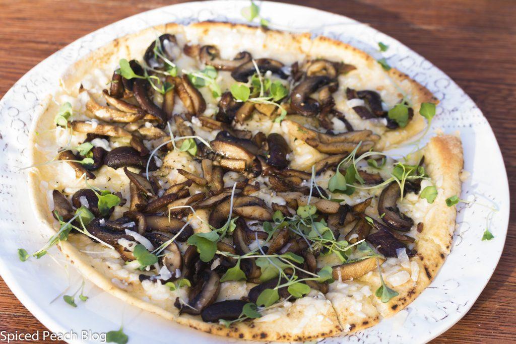 Wild Mushroom and Cheese Pita Pizza