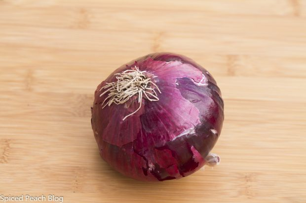 one medium-sized red onion