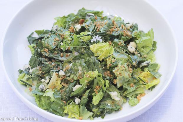 Greens and Fresh Herbs Salad, Shallot Dijon Vinaigrette